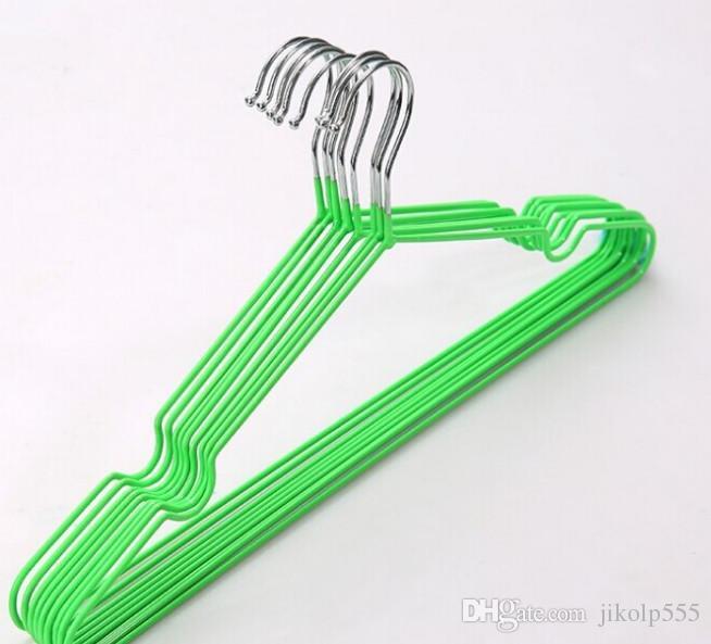 T neue Kleiderbügel mit Nut, Nano-Metall Kleiderbügel, Slip Kleiderbügel, trockene und nasse Kleidung hängen, Fabrik Direktverkauf