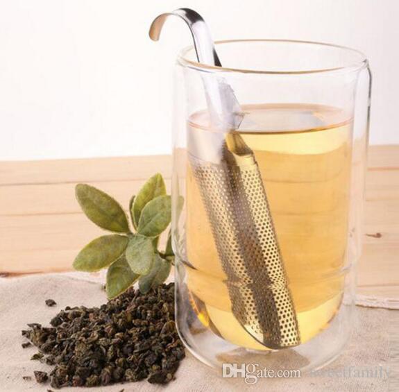 Stainless Steel Portable Loose Leaf Tea Infuser Stick Pipe Design Mini Tube Teaspoon Colander Kitchen Drinkware Tool