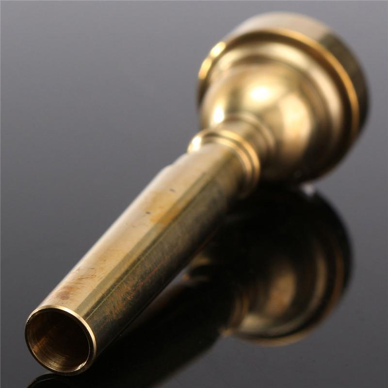 Novo Banhado A Ouro Trompete Bocal 7C Tamanho Tone Trompete Bocal Para Yamaha para Bach Peças de Instrumentos Musicais