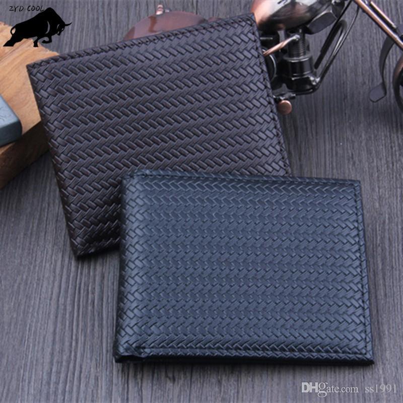 ZYD-COOL Männer Brieftaschen Berühmte Marke Herren Brieftasche Männlichen Geldbörse Karte Geldeingang Halter Veranstalter Brieftasche Geldbörse Tasche