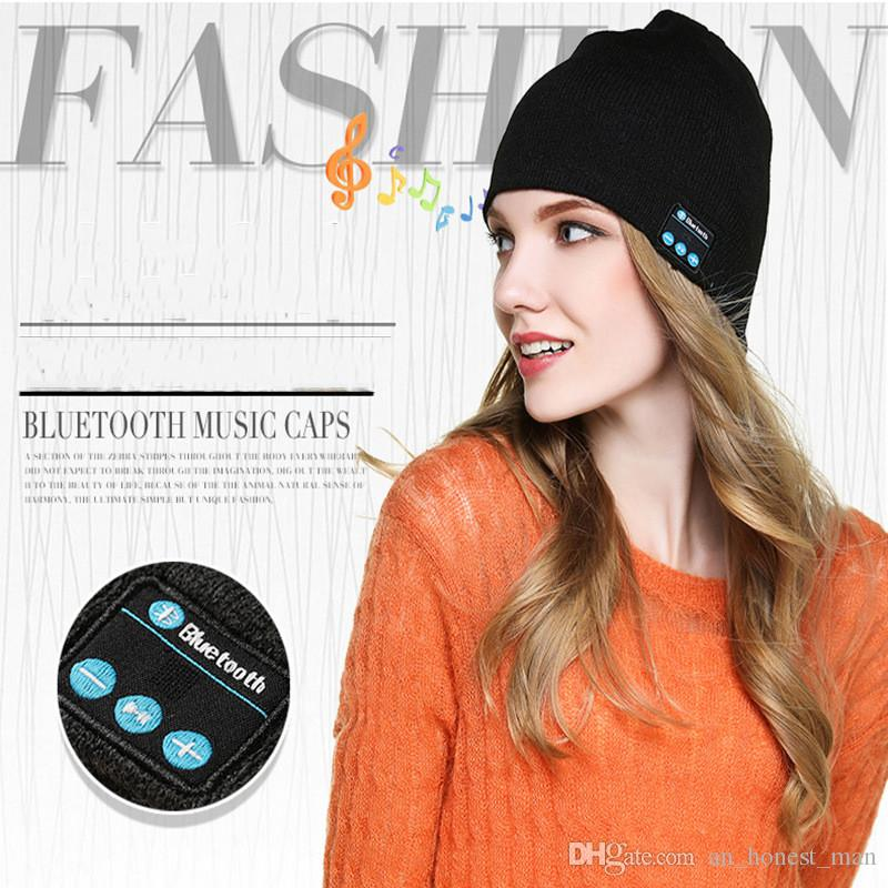 NEW Soft Warm Beanie Bluetooth Music Hat Cap with Stereo Headphone Headset Speaker Wireless Mic Hands-free for Men Women Gift V887