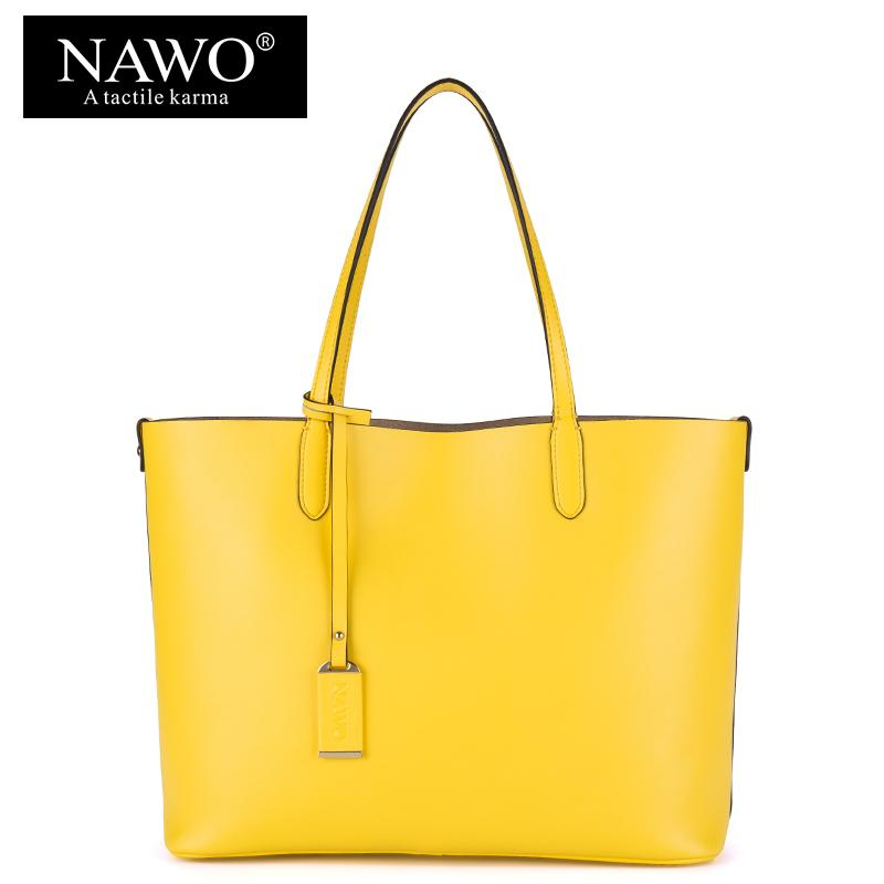 Wholesale NAWO Red Casual Women Tote Bags Large Capacity Leather Handbags  New Fashion Famous Designer Brand Ladies Shoulder Shopping Bags Satchel  Handbags ... c28697f81aea5