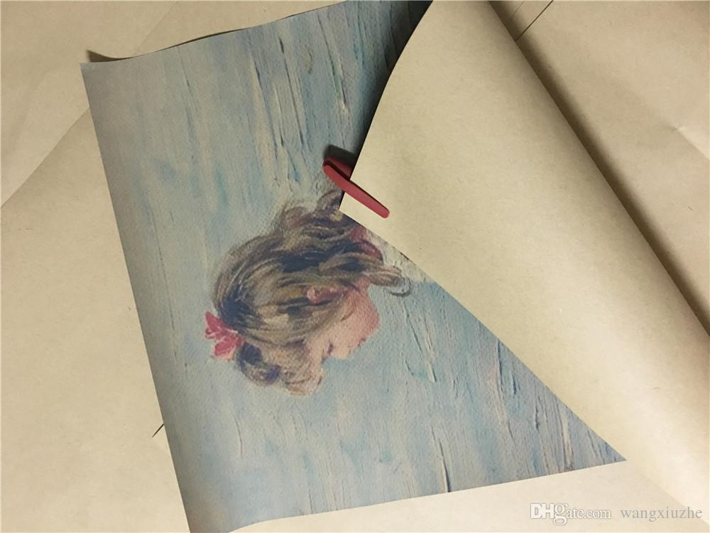 High - definition Russian girl kraft paper poster body art oil painting ink painting art decorative painting Wall decoration