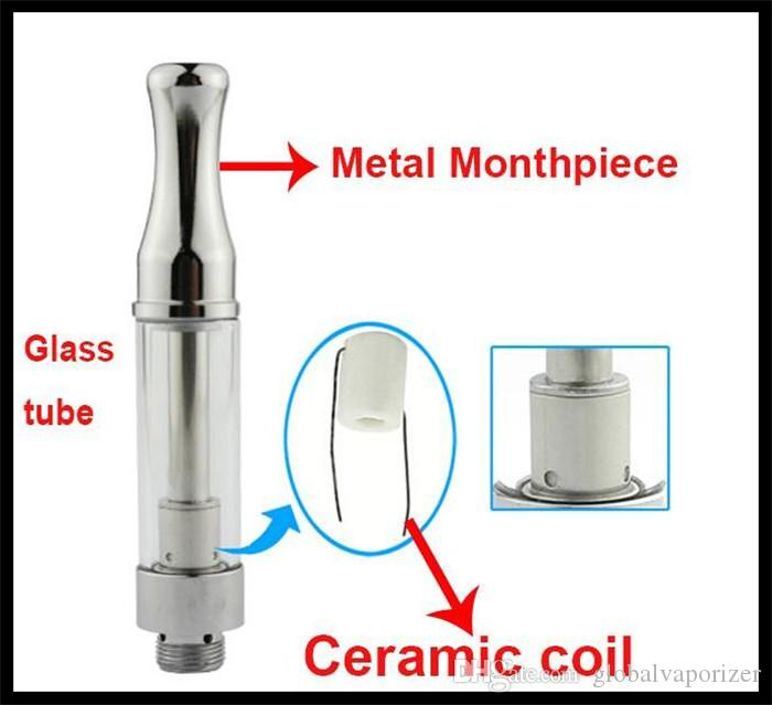 Thick oil A3 BCC ceramic Vape Cartridge vaporizer 510 thread open style hash honey oil bud touch e cigarette 510 mini ceramic core tank