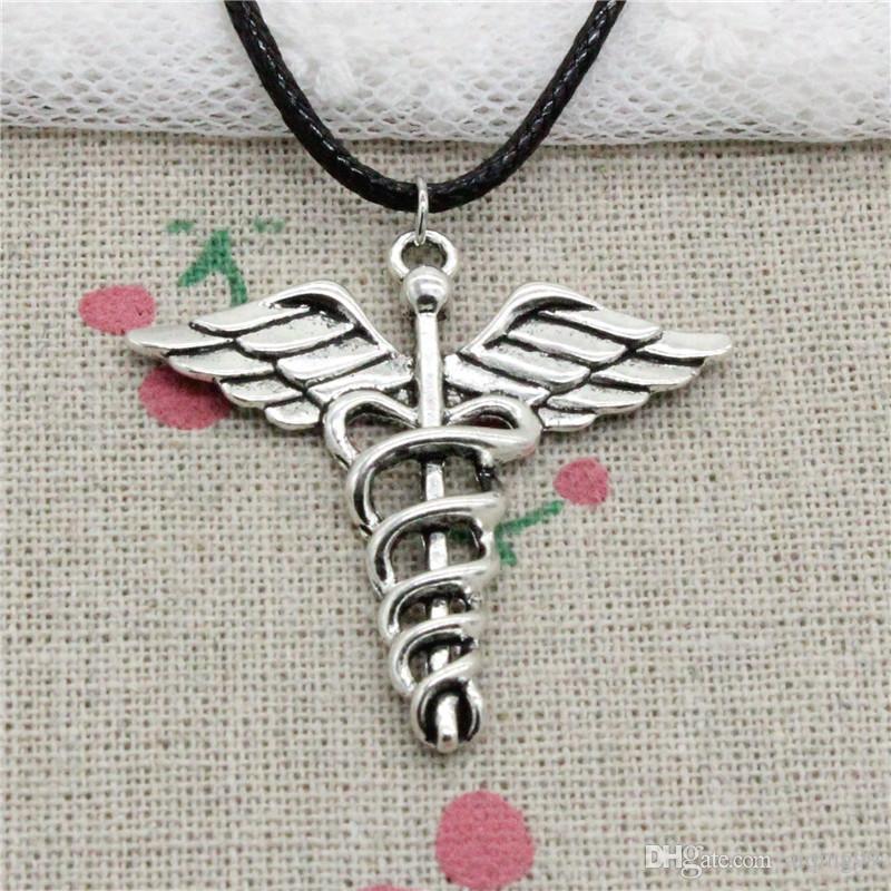 Wholesale New Fashion Antique Silver Charms Caduceus Medical Symbol