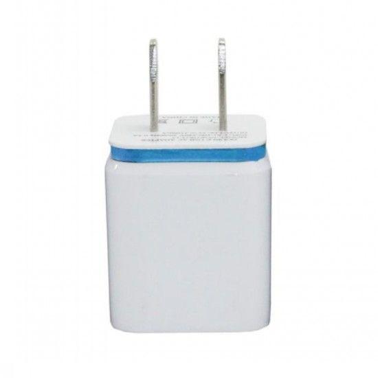 Metal Dual USB wall US plug 2.1A AC Power Adapter Wall Charger Plug 2 port for samsung galaxy note LG tablet ipad