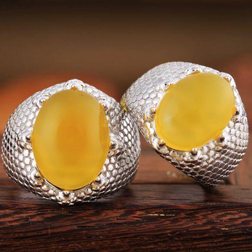 Art Deco Real 925 Sterling Silver 12x16mm Ovale Cabochon Semi Mount Anello Impostazione Fine Jewelry Oro bianco placcato
