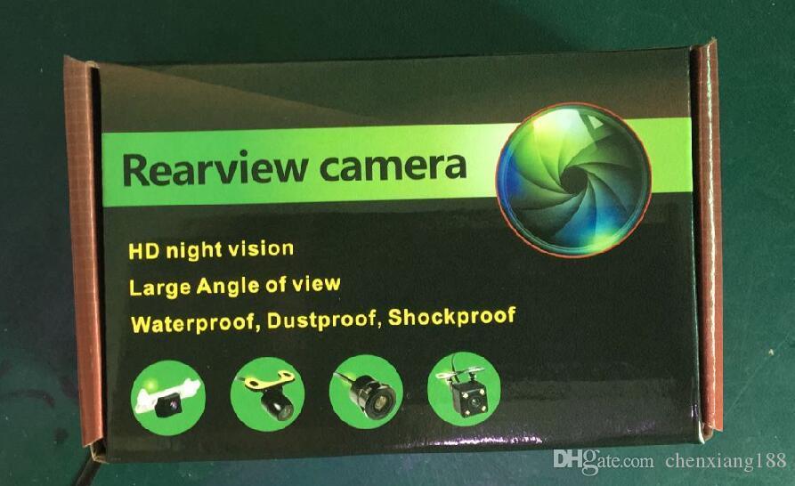 100 adet Kare Şekli DVR Oto Park Yardımı Yeni 4LED Gece Görüş Araba CCD Dikiz Kamera Araba Video Katlanabilir Monitör Kamera 170 Derece