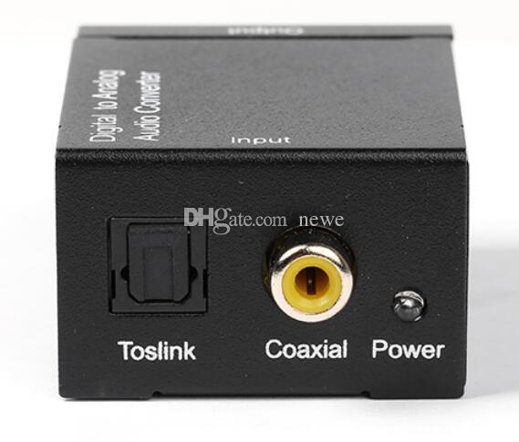 Electronics Digital to Analog Audio Converter Adapter Optic Coaxial RCA Toslink Signal to Analog Audio Converter RCA