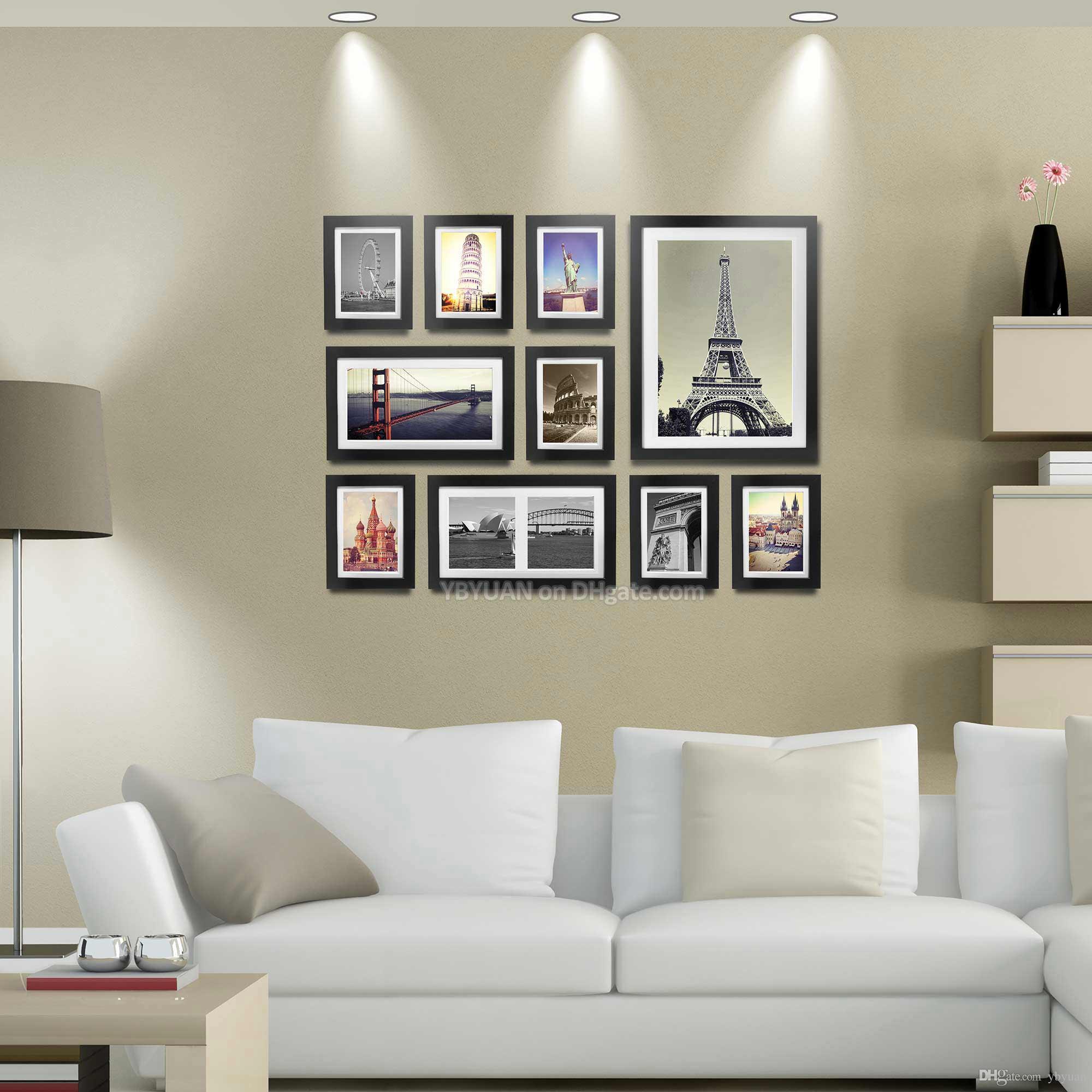 b394e0aa133 2018 Wood Photo Frame Gallery Wall Modern Style Flat Moulding Border