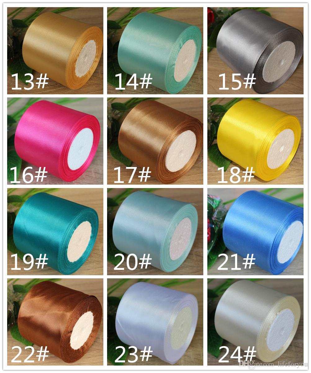 25-Yard 8cm Width party decoration ribbon party gift wrapping ribbon wedding chair ribbon bow wedding decoration