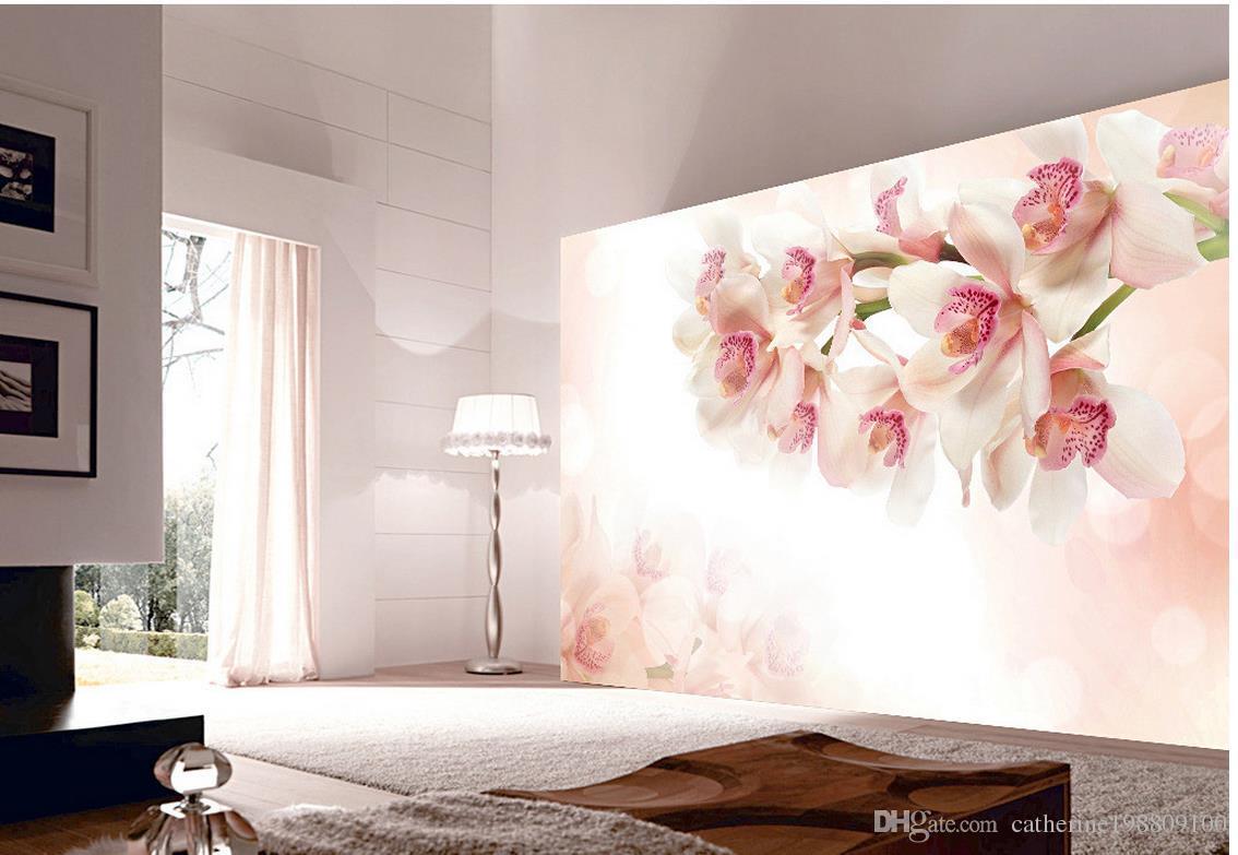 Çiçek arka plan duvar dekorasyonu boyama duvar 3d tv fon için duvar kağıdı 3d duvar kağıtları