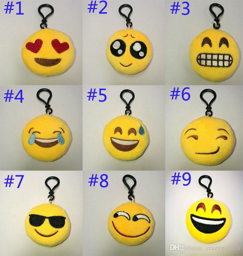 Acheter 60 Cm Qq Expression Rainbow Caca Emoji Smiley Poupées Porte Clés Dessin Animé Mignon En Peluche Pendentif Porte Clés De Haute Qualité 38