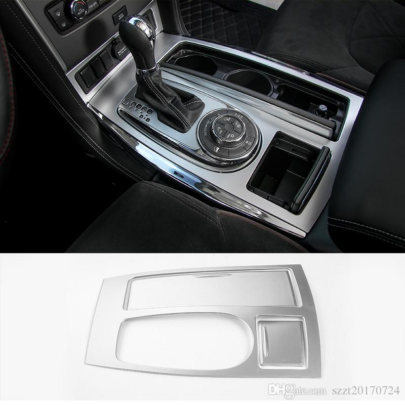 Gear Row of water cup Holder Panel Pad Decoration cover Fit For Nissan  Patrol 2017 Car Interior Accessories