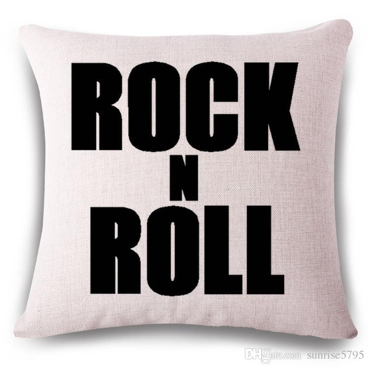 Etats-Unis lettres anglaises housse de coussin style punk canapé chaise chaise taie d'oreiller rock and roll bureau à domicile cojines shabby chic cojines