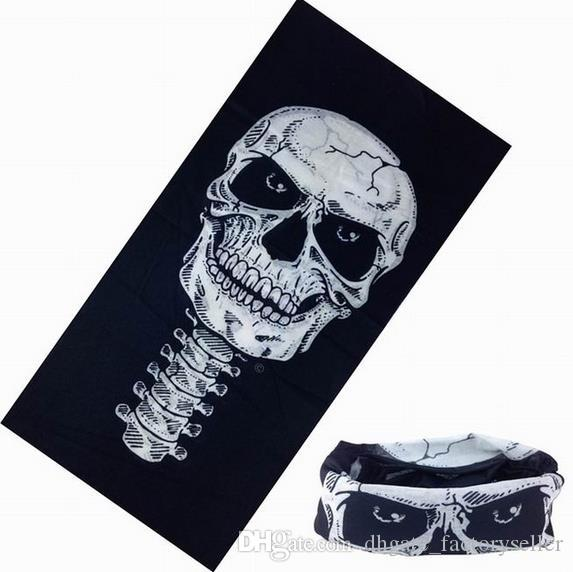 DHL Skull Design Multi Function Bandana Ski Sport Motorcycle Biker Scarf Face Masks Outdoor Facial Mask Black Color