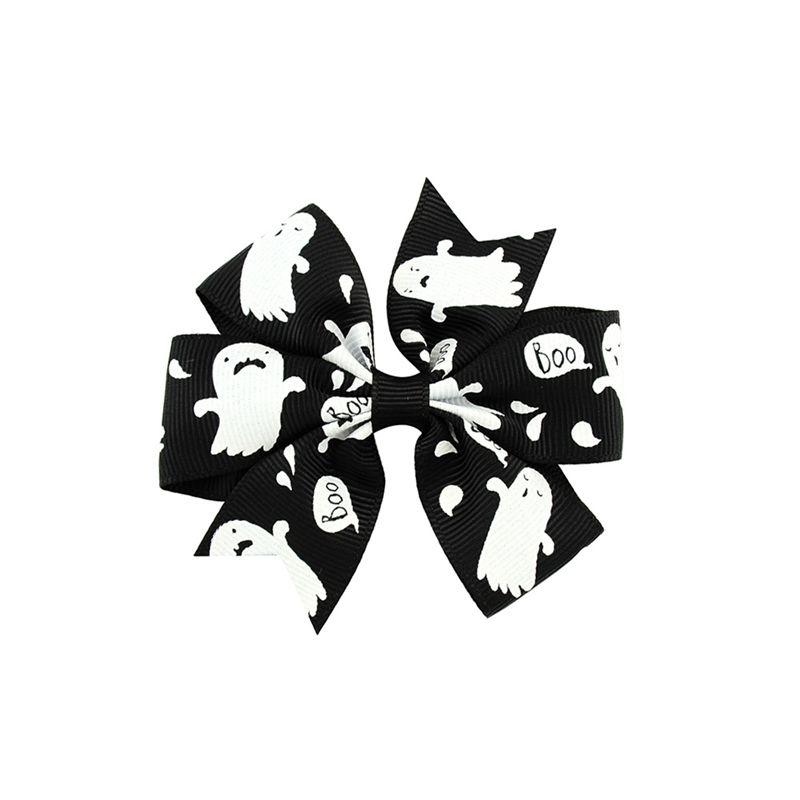 3 بوصة الطفل هالوين grosgrain الشريط الأقواس مع كليب الفتيات الاطفال شبح اليقطين الأطفال فتاة pinwheel مقاطع الشعر دبوس الشعر الملحقات KFJ105
