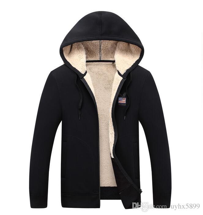 2017 Men's Sweaters Winter Warm Thick Velvet Sweatercoat Zipper Collar Casual Cardigan Men Sweaters Knitwear Big Size men/women coats