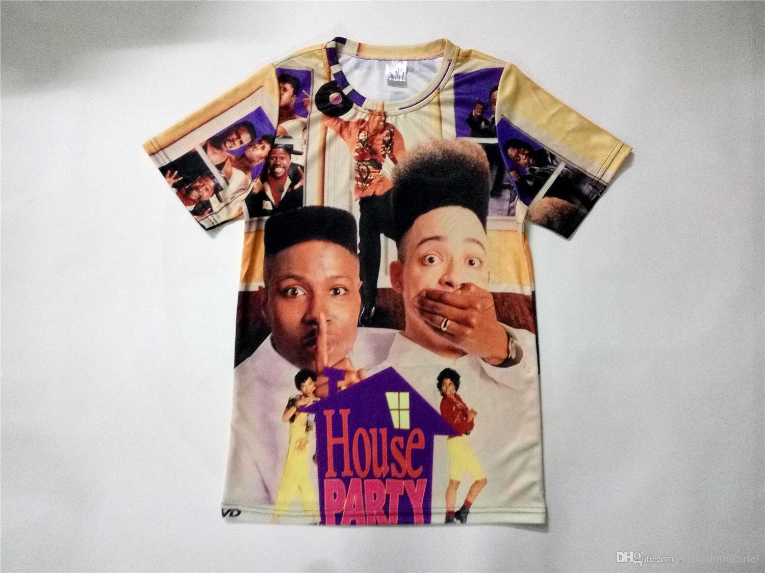 1c4de2305a2 Real USA Size 2 Styles Custom Made House Party 3D Sublimation Print T Shirt  Unisex Clothing Shirt Online Cartoon T Shirts From Thefashioncartel