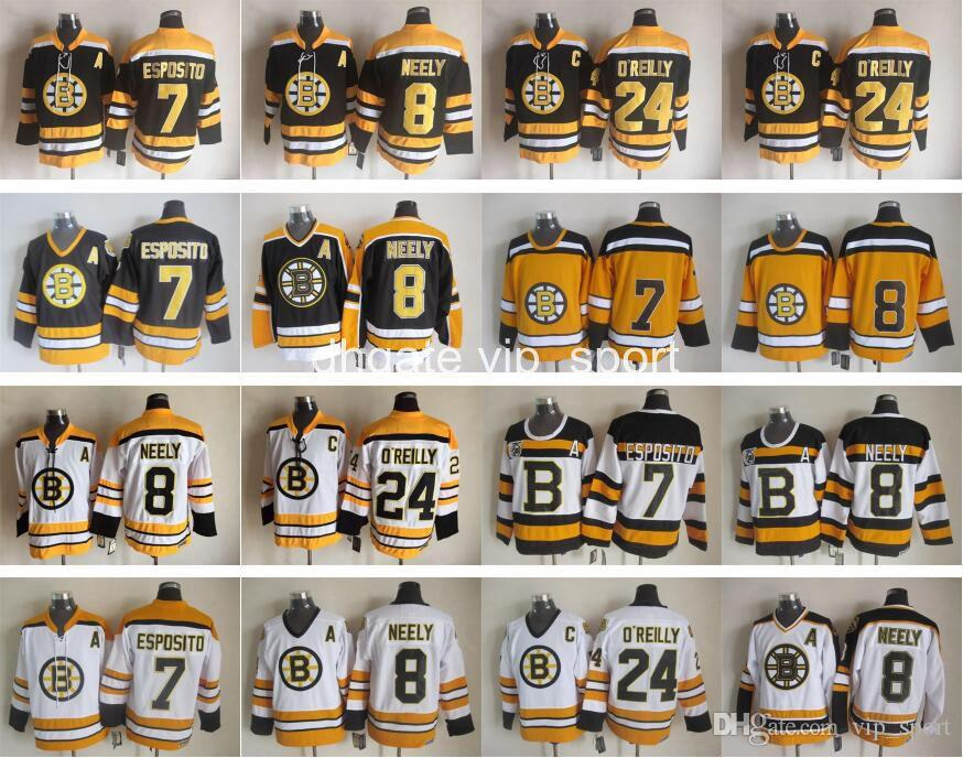 ... Black Ice Hockey Jerseys 24 Terry 2017 Boston Bruins Vintage Ccm 8 Cam  Neely Jersey Men 7 Phil Esposito 24 Terry OReilly ... 06c6506e3