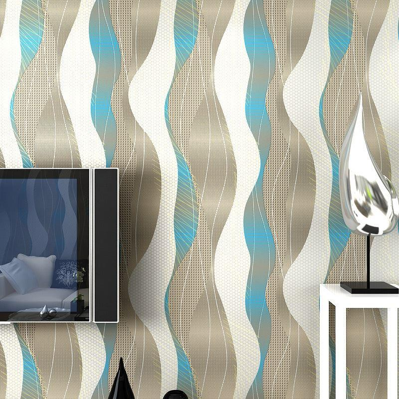 Modern Minimalist 3d Stereoscopic Film And Tv Wall Stripe Wallpaper Bedroom  Living Room Tv Backdrop 3d Curved Wallpaper Wallpapers Downloads Wallpapers  En ...