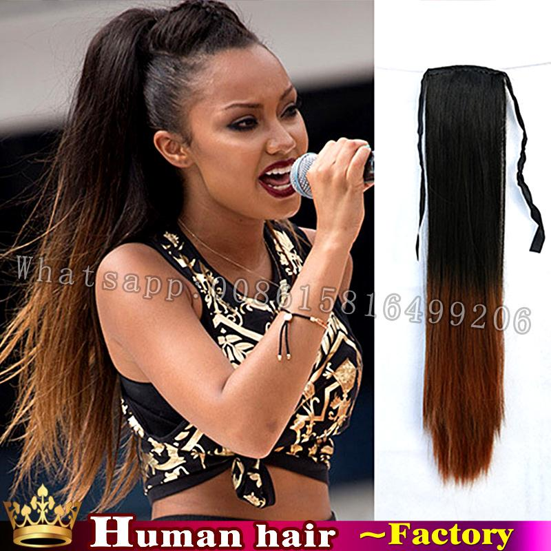Wholesale Straight Pony Tail Extension High Quality Brazilian