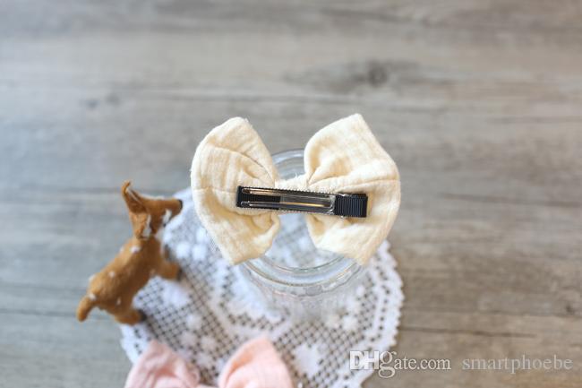 Wholesale e Fashion Cute Glitter Star Gauze Bow Hairpins Solid Bowknot Hair Clips Princess Headware Hair Accessories