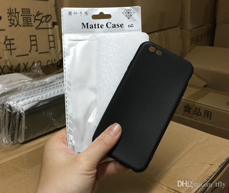 2019 sottile ultra sottile opaco smerigliato tpu cassa del telefono cellulare gel silicone antiurto custodie cover posteriore iphone xs max xr x 8 7 6 6 s plus