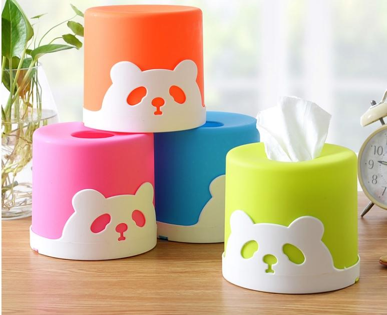 Wholesale- Household articles plastic paper towel Car Home circle Shaped Tissue Box Container Towel Napkin Tissue Holder
