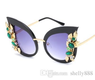 da94f28eb4 Occhiali da sole da donna con occhio di gatto di design di lusso di moda  barocca Occhiali da sole con cernita di design speciale di marca multicolor