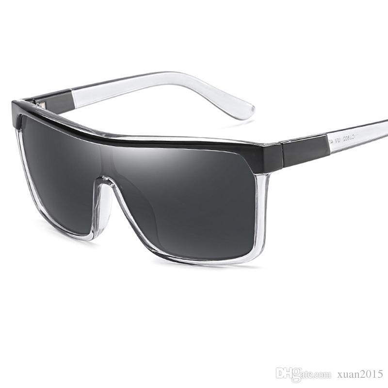 Compre Retro Mujeres Hombres Gafas De Sol Marco De Caja Grande Gafas ...