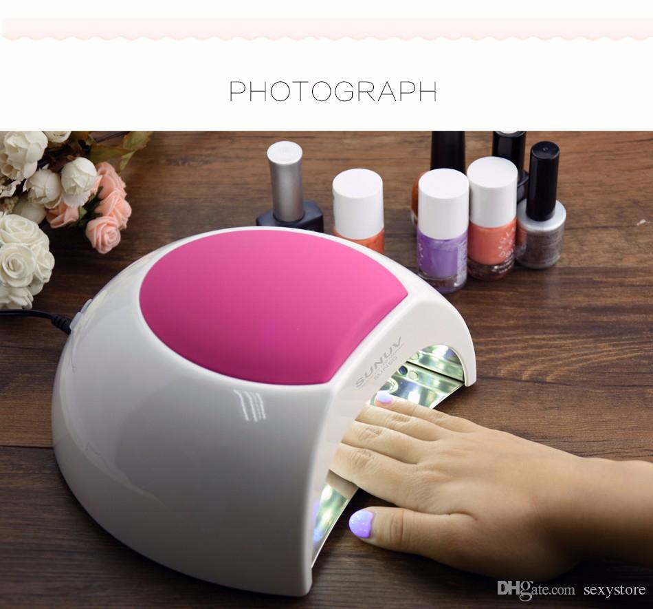 SUN2 UV LED Lámpara Nail 48W Secadora de uñas Máquina de luz para curar UV Gel Led Gel Nail Gel Polish Machine