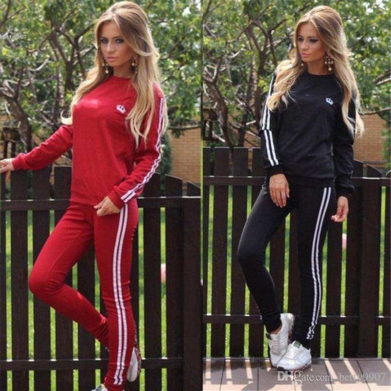 a3b2081bd Compre Designer De Mulheres Treino Pullover Camisola Calças Compridas  Sportswear 2 Peças Conjunto De Formação Ternos Coroa Imperial Impresso  Roupas Casuais ...