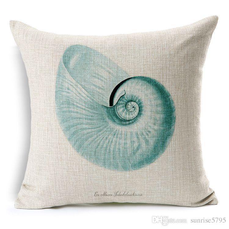 fodera cuscino nautico sea horse divano tiro federa arredamento spiaggia biancheria in cotone almofada marine cojines