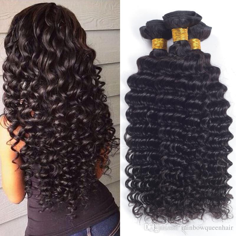 Rainbow Queen Malaysian Virgin Hair Deep Curly Hair Weave Malaysian