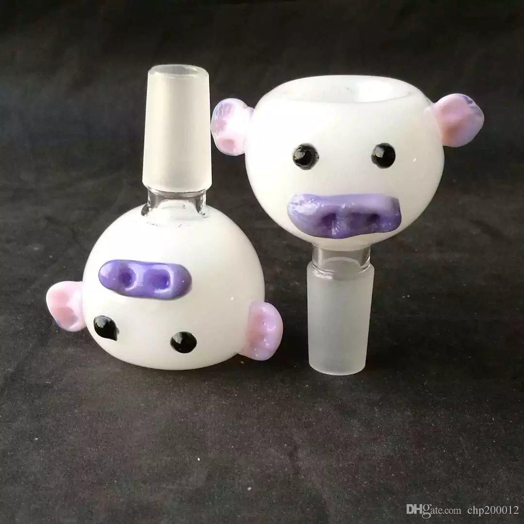Cerdo precioso cabeza del clavo Artículos de fumar vidrio tazón piezas masculinas envío libre de 14 mm conjunta para Bong tuberías cachimbas