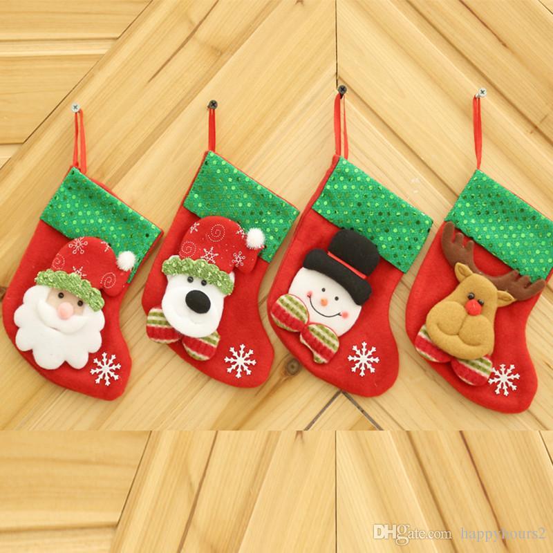 16 9 cm new year gift for child christmas stockings socks santa