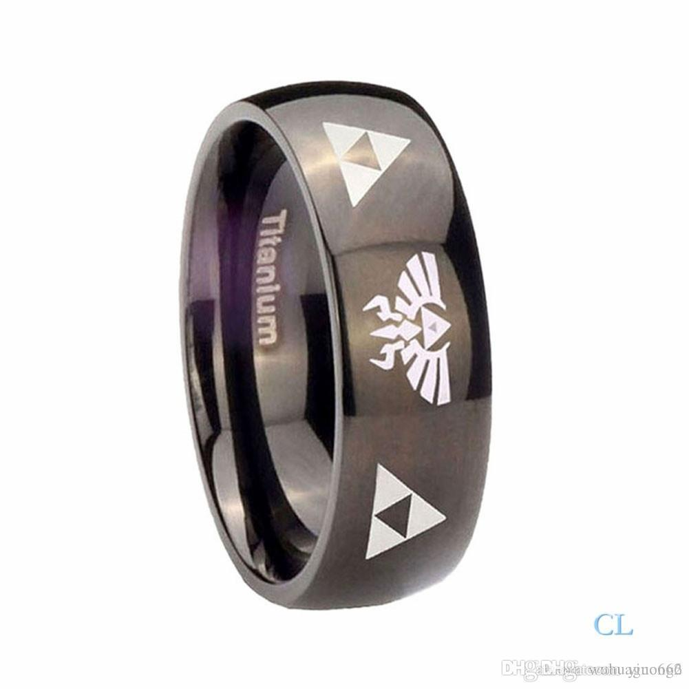 mens fashion jewelry anime the legend of zelda triangle sign men