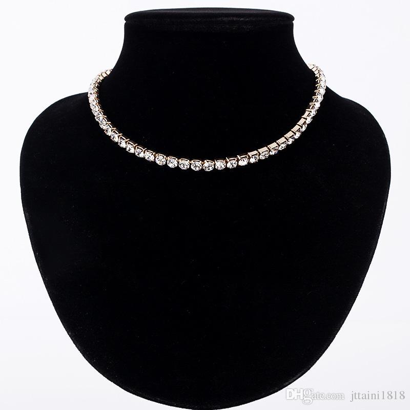 Collane della collana della collana della collana di cristallo delle nuove donne della vendita calda della collana della collana la ragazza dei monili di compleanno di nozze della ragazza Trasporto libero # N062
