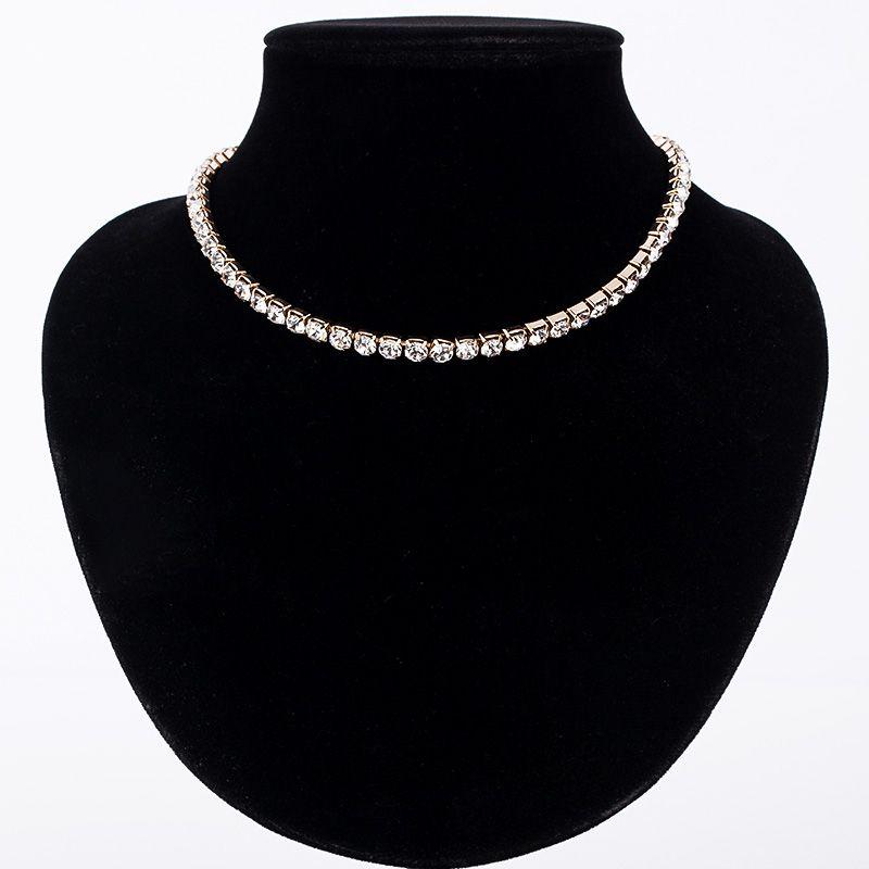 Vente chaude Nouveau Femmes Rhinestone collier Colliers collier pour fille de mariage anniversaire Bijoux Livraison gratuite # n062