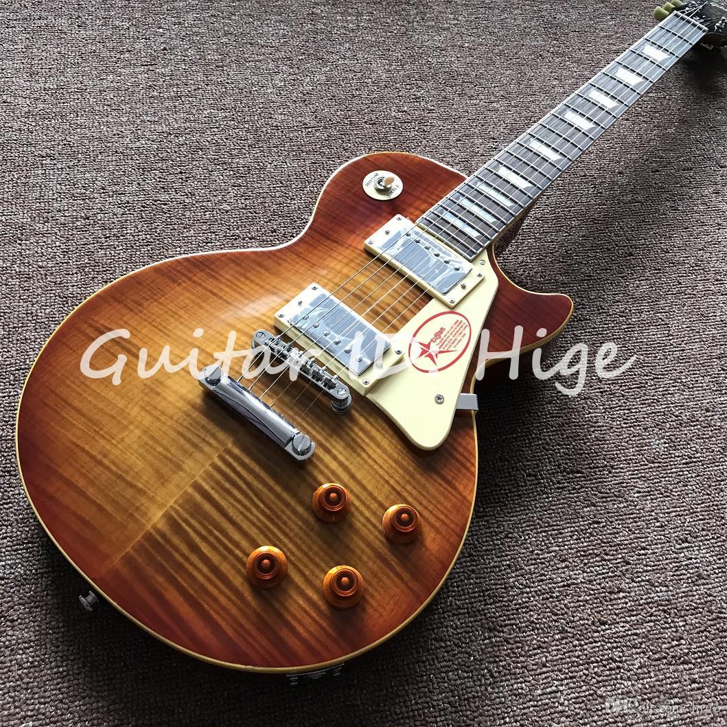 새로운 도착 1959 일렉트릭 기타 꿀 버스트 R9 기타라, 햇살에 색칠 한 조각 몸과 한 조각 목, 뜨거운 판매