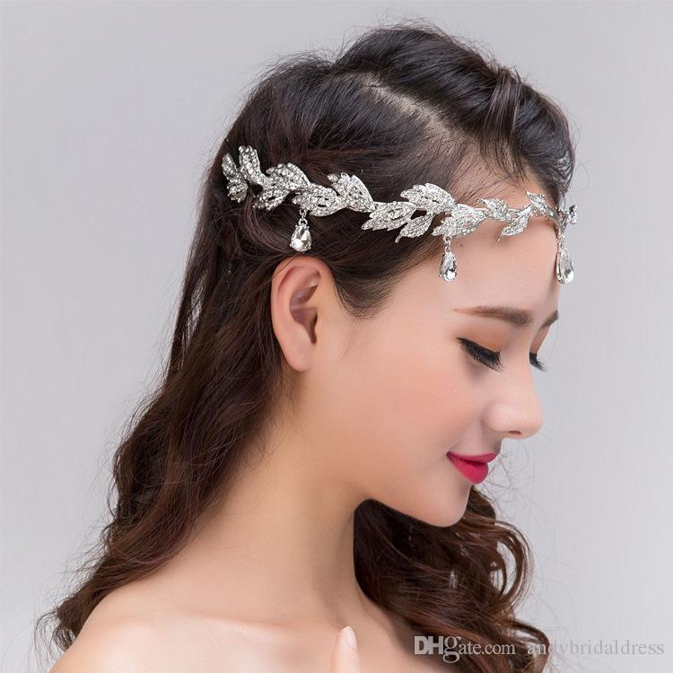 라인 석 결정 크리스털 티아라 크라운 웨딩 브라 Tiaras 쥬얼리 웨딩 Hairbands 헤어 액세서리 Bridal Tiaras Hair Wedding