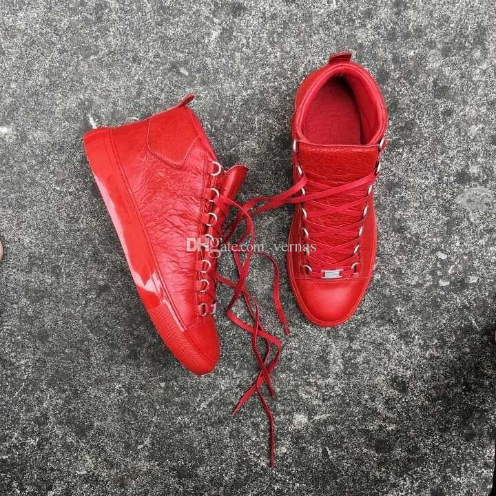 Originale Hightop con lussuoso Arena Sneaker piatto Super qualità in vera pelle donna, uomo all'aperto Kanye West Fashion Trainer