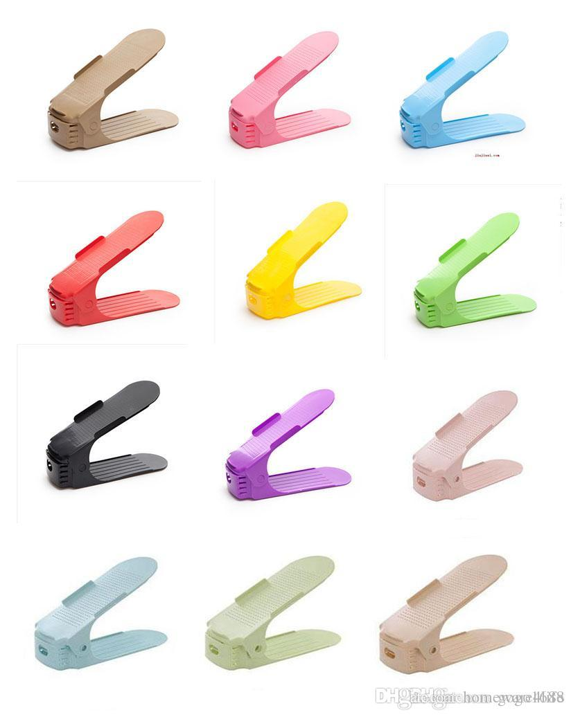 Home & Garden Lovely 2018 Fashion Shoe Racks Modern Double Cleaning Storage Shoes Rack Living Room Convenient Shoebox Shoes Organizer Stand Shelf
