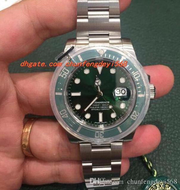 패션 럭셔리 손목 시계 116610 세라믹 베젤 망 시계 전체 설정 자동 무브먼트 남자 시계 남자 시계 최고 품질