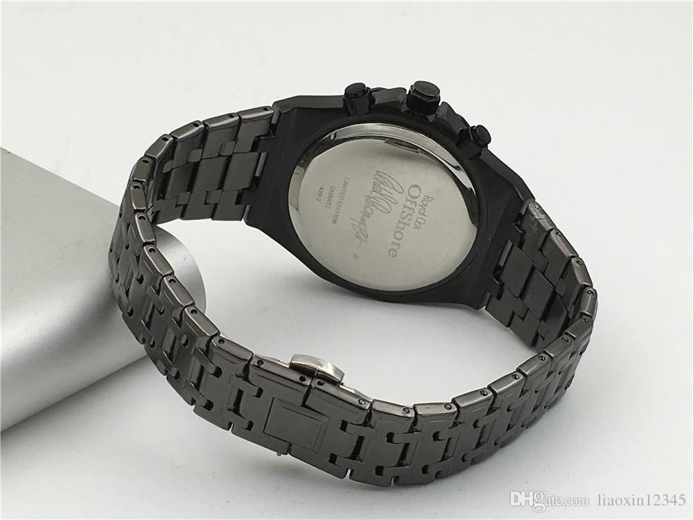 Alle Subdials Arbeiten AAA Herren Uhren Edelstahl Quarz Armbanduhren Stoppuhr Luxus-Uhr Top-Marke Relogies für Männer Uhren Bestes Geschenk