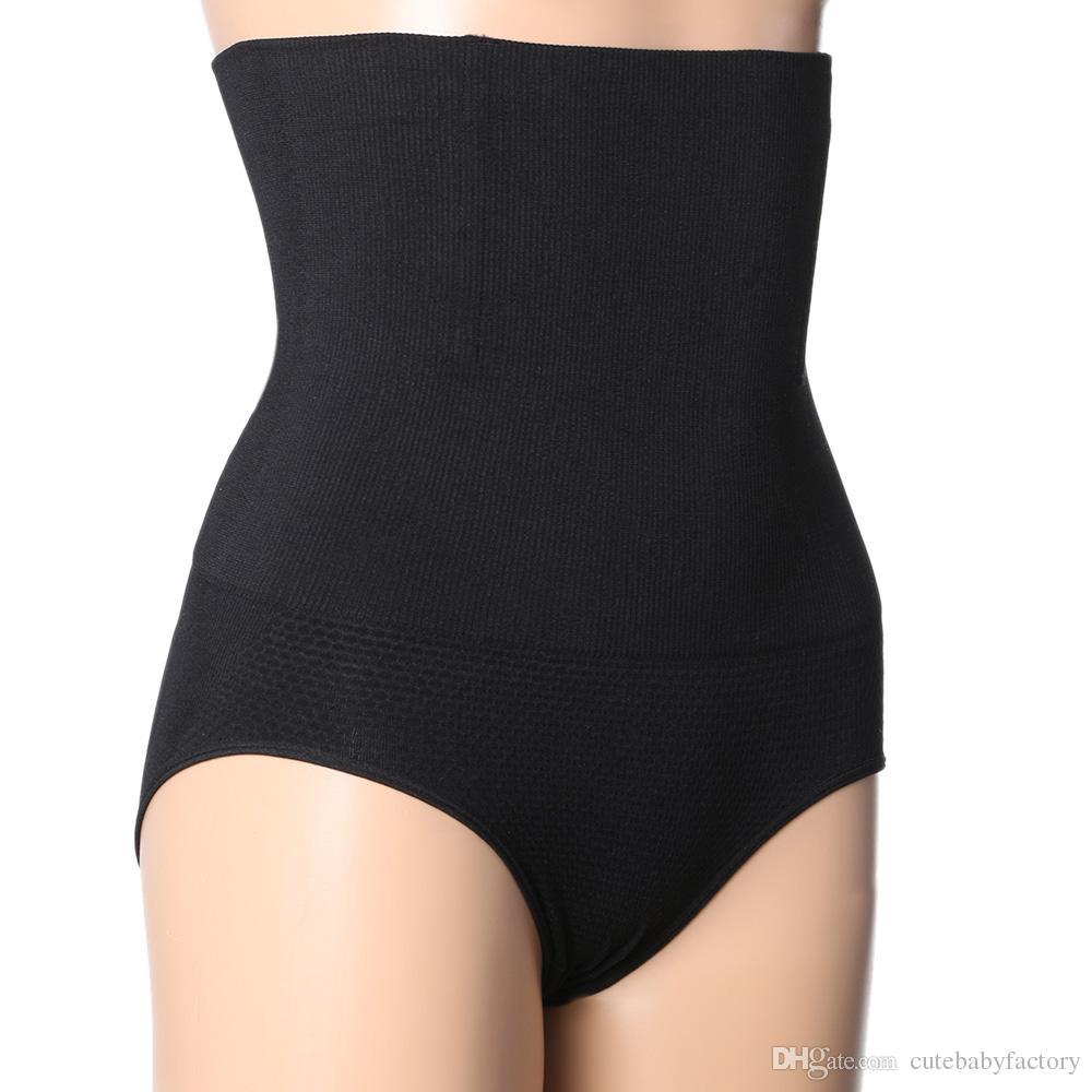 beff5a761 Black Skin Lady s High Waist Body Shaper Brief Underwear Tummy Control  Panties Shapewear Size M L XL XXL 2017 Fashion