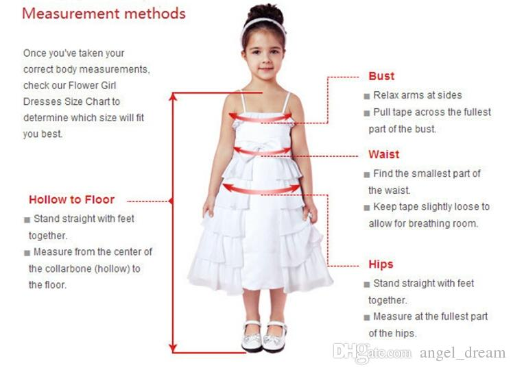 Nuevos vestidos de niña de flores con media manga para la boda Little Girl Kids / Child Dress Keyhole Back Ball Fiesta de cumpleaños Concurso Vestido de comunión