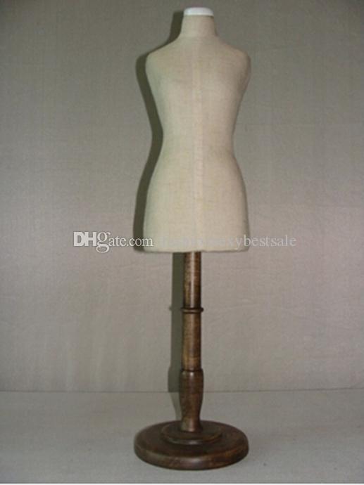 Ücretsiz kargo! 1/3 elbise formu Manken, kadınlar için esnek dikmek, üst vücut, 1: 3 ölçekli Jersey büstü düğmesi ile ahşap ayarlanabilir raf M00026Y
