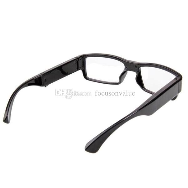 No Hole glasses camera Full HD 1080P Eyewear camera Glasses Mini DV DVR digital video recorder black DHL